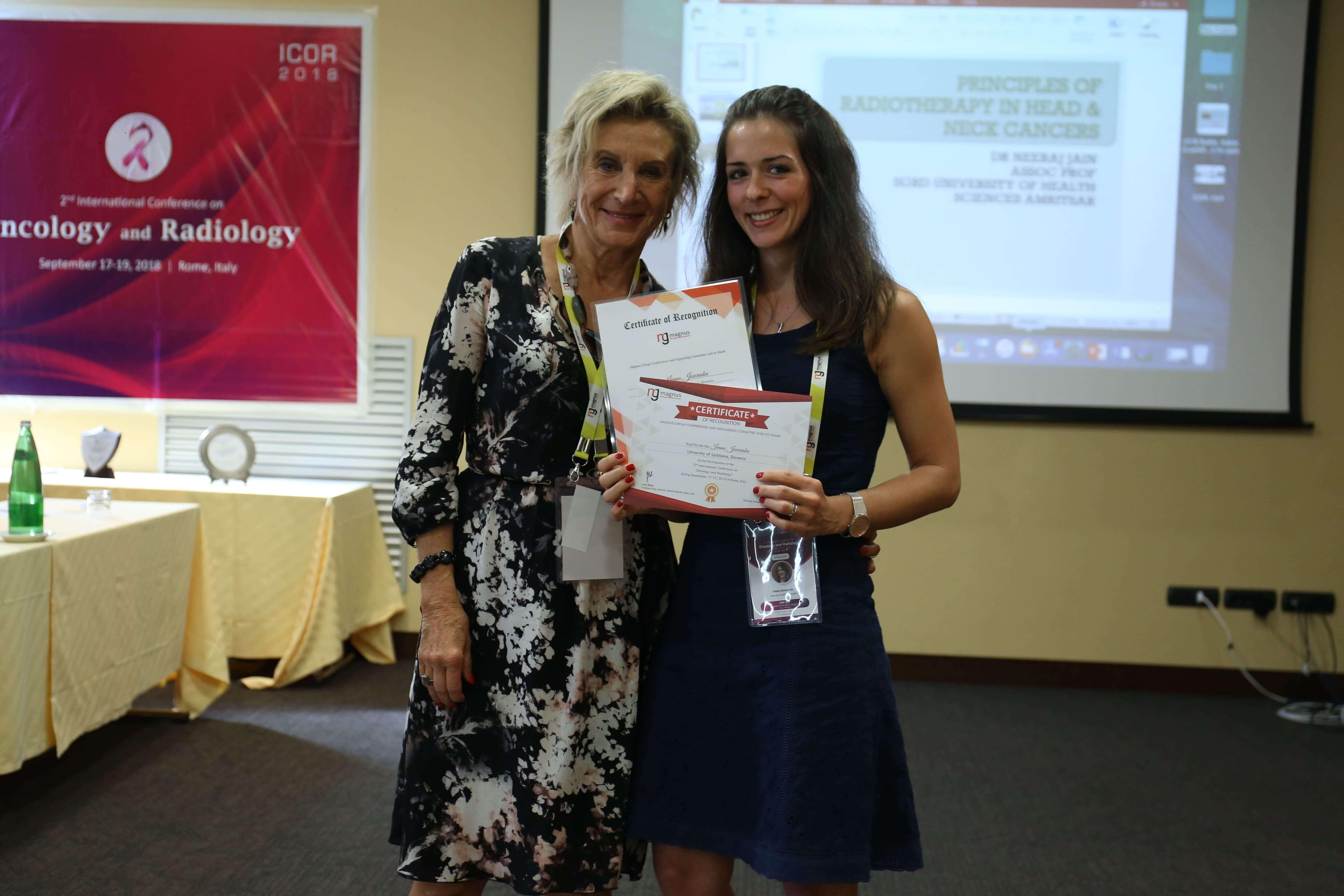 Cancer research conferences - Ivana Jovcevska
